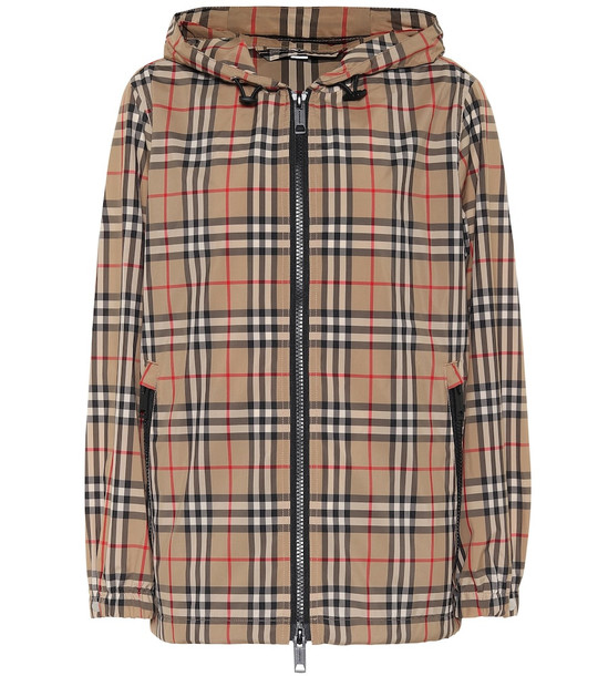 Burberry Vintage Check hooded jacket in beige