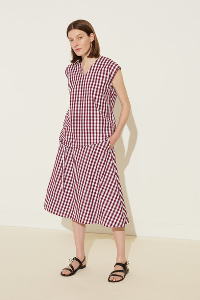 Mansur Gavriel Gingham Wrap Skirt - Wine