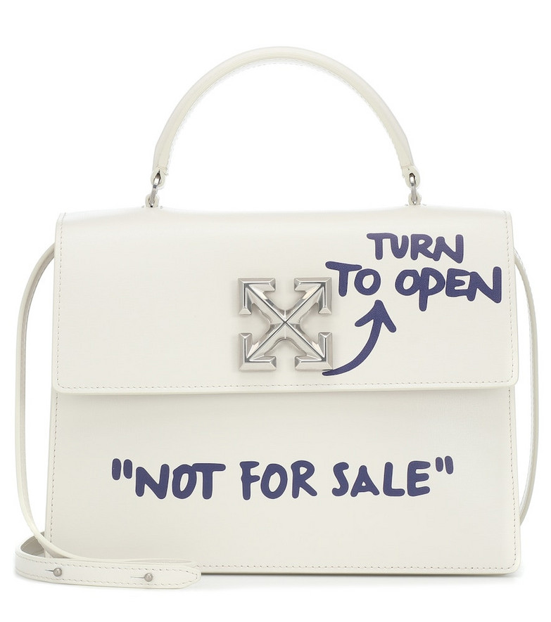Off-White Jitney 2.8 leather tote in white