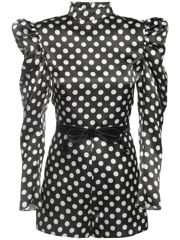 GIUSEPPE DI MORABITO Polka Dots Silk Organza Mini Jumpsuit in black / white