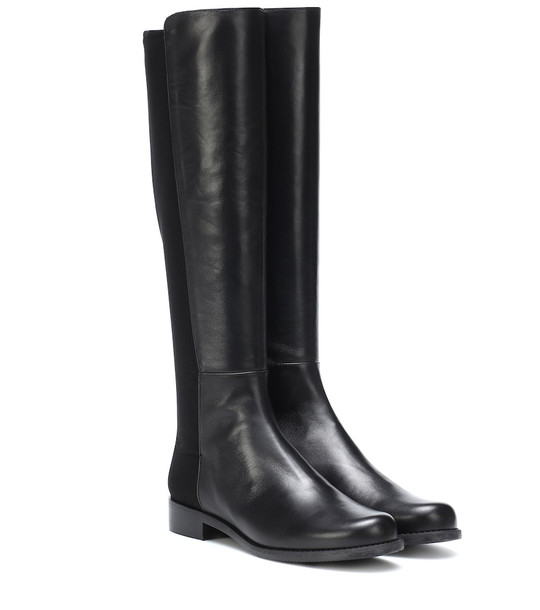 Stuart Weitzman 5050 leather boots in black