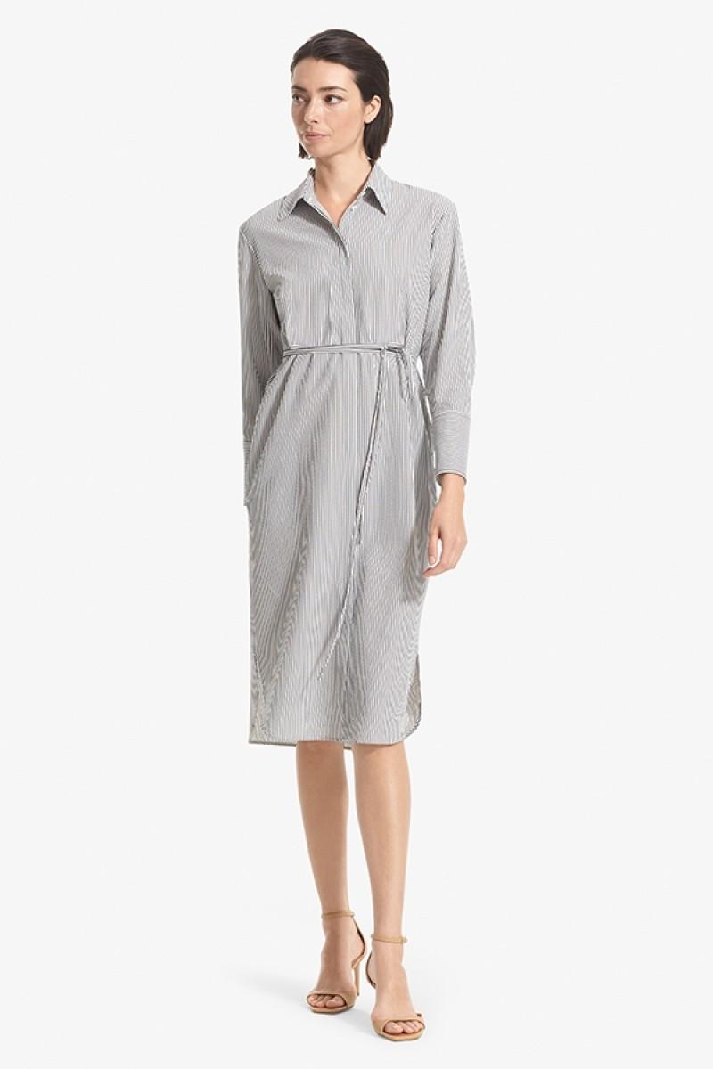 Amber Dress - Gray / White   MM.LaFleur