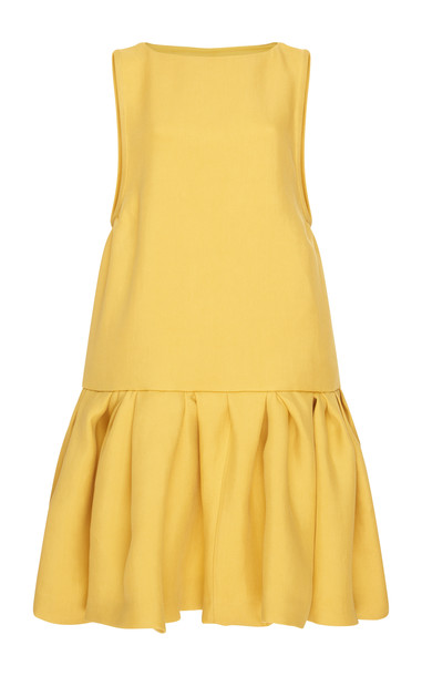 Rochas Sleeveless Dress With Rouges in yellow