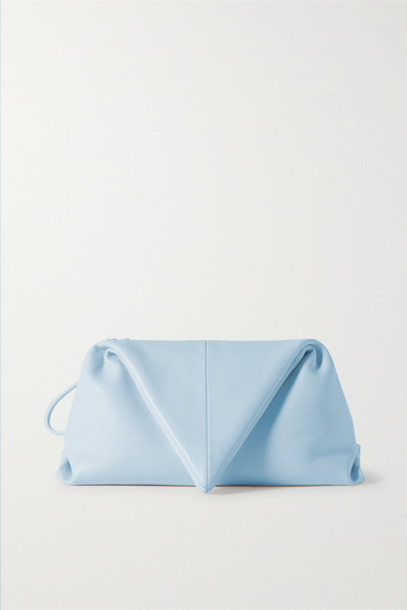 Bottega Veneta - Envelope Leather Clutch - Light blue