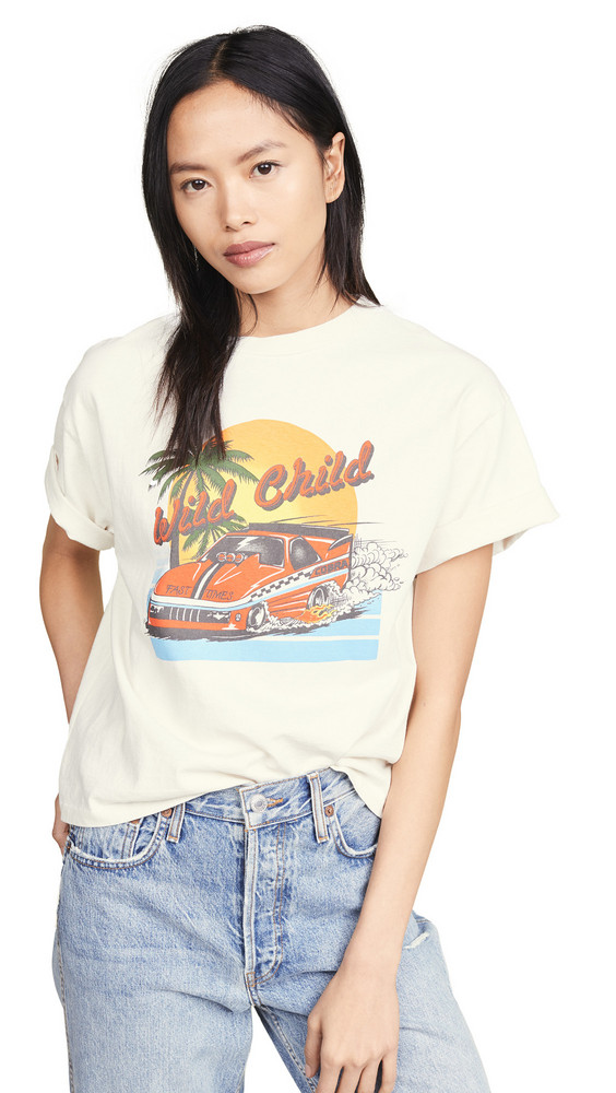 RE/DONE Wild Child Ex-Boyfriend T-Shirt in white