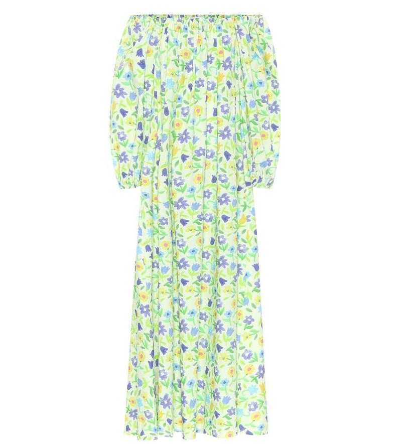 Bernadette Bobby floral cotton maxi dress in green