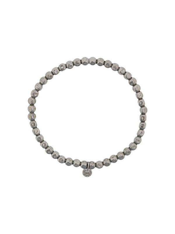 Tateossian cube beaded bracelet in silver