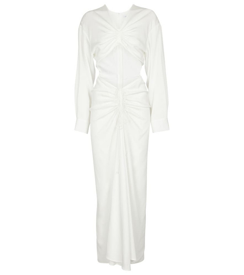 Christopher Esber Ruched cutout maxi dress in white