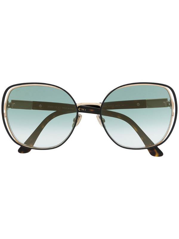 Jimmy Choo Eyewear oversized frame sunglasses in gold