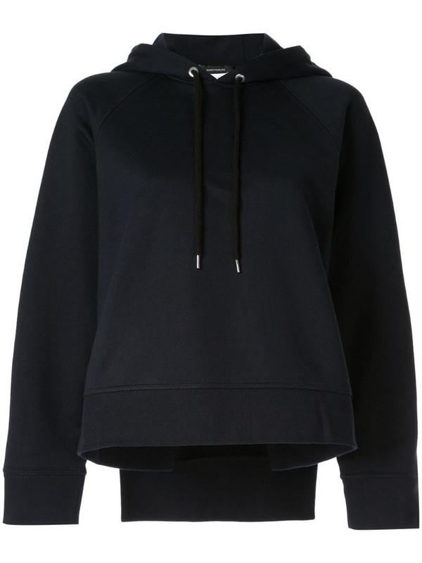 Cédric Charlier basic hoodie in blue