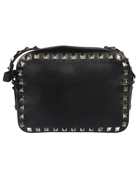 Valentino Studded Crossbody Bag in nero