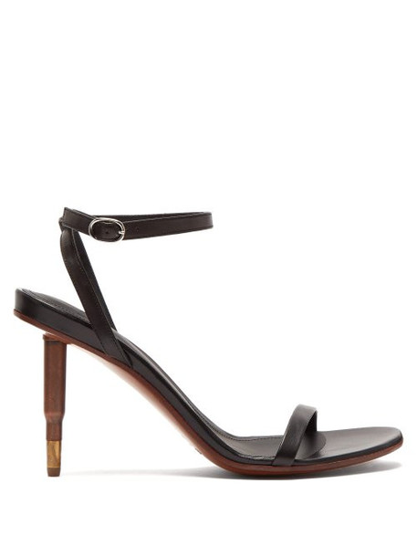 Vetements - Killer Bullet Heel Leather Sandals - Womens - Black