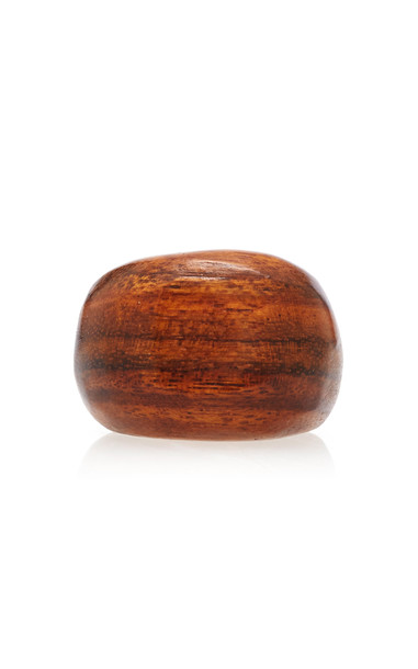 Sophie Monet Shedua Wood Ring in brown