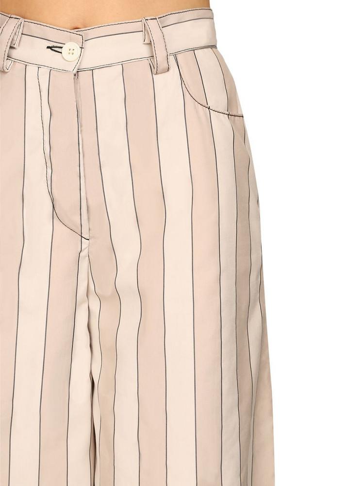 SUNNEI Cotton & Lyocell Maxi Palazzo Pants in grey