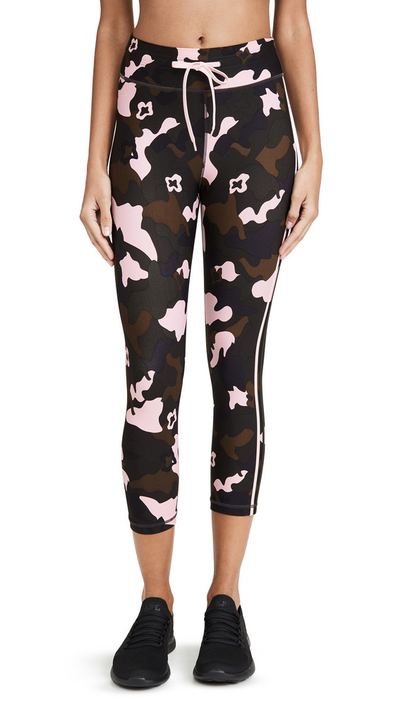 The Upside Forest Camo Crop Leggings in multi