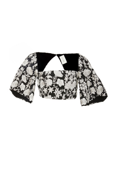 Alexis Tiras Crop Top in black / white