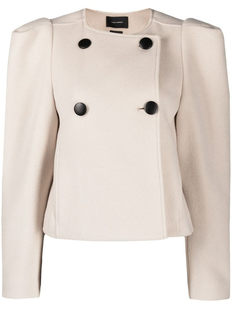 Isabel Marant cropped double-breasted jacket in neutrals