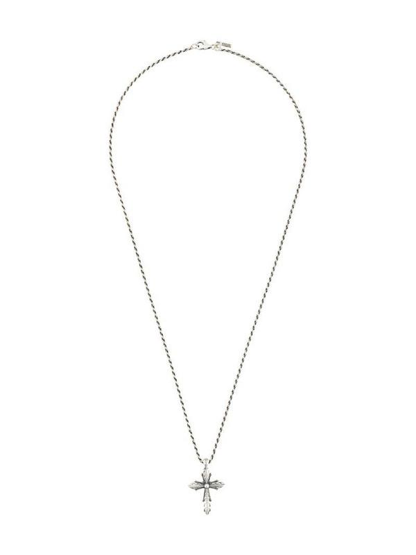 Emanuele Bicocchi Cross pendant necklace in silver