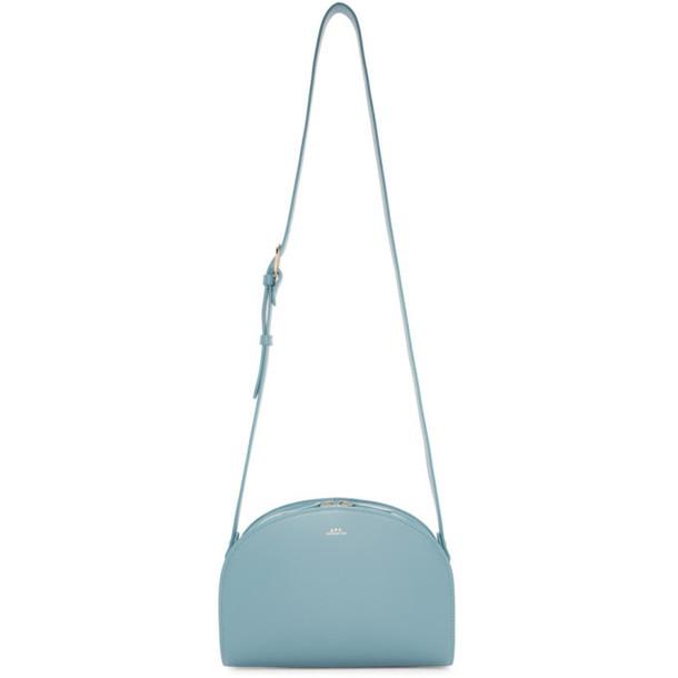 A.P.C. A.P.C. Blue Half-Moon Bag