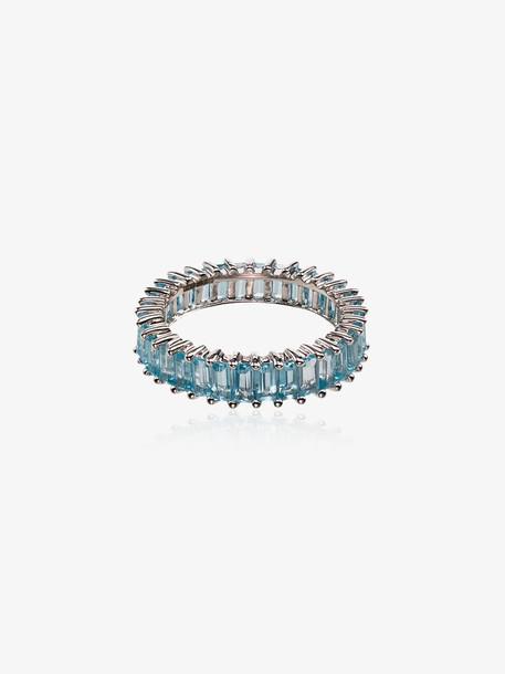 Dana Rebecca Designs 14K White Gold Blue Topaz Ring