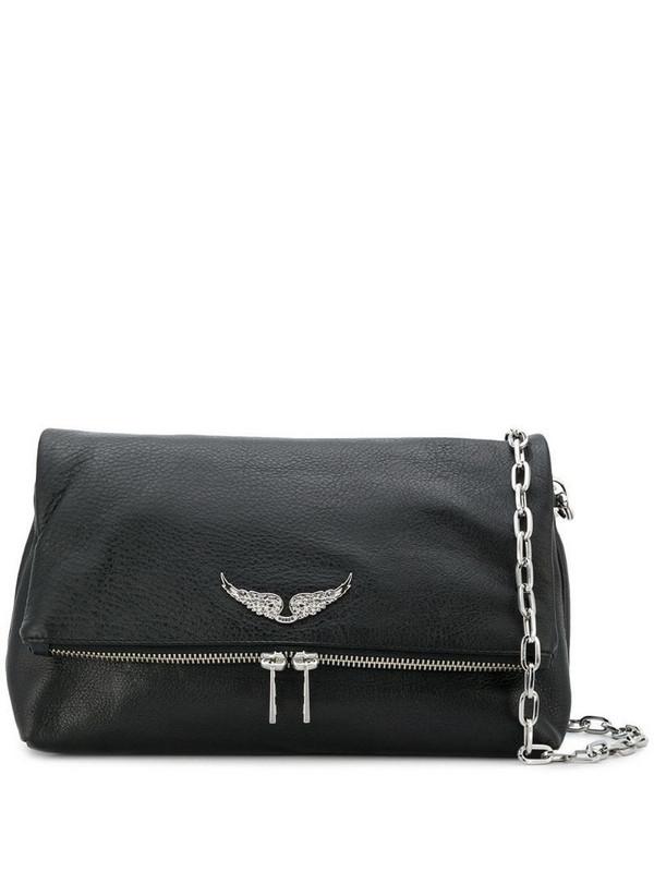 Zadig&Voltaire logo plaque crossbody bag in black