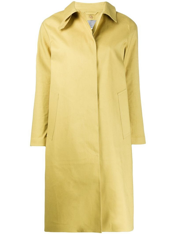 Mackintosh Dunkeld single-breasted coat in yellow