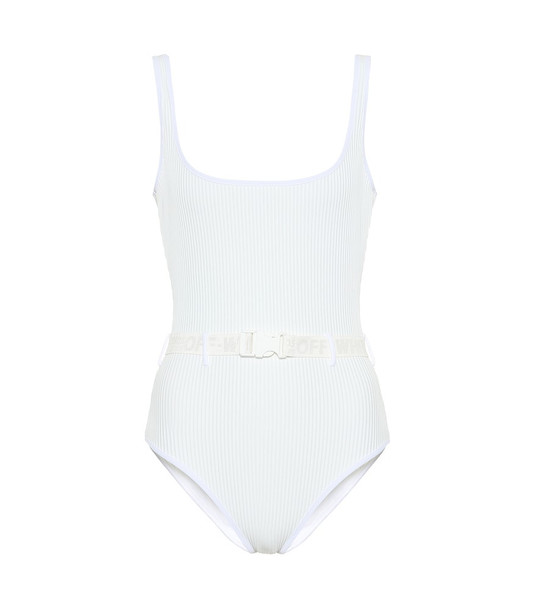 Off-White Belted swimsuit in white