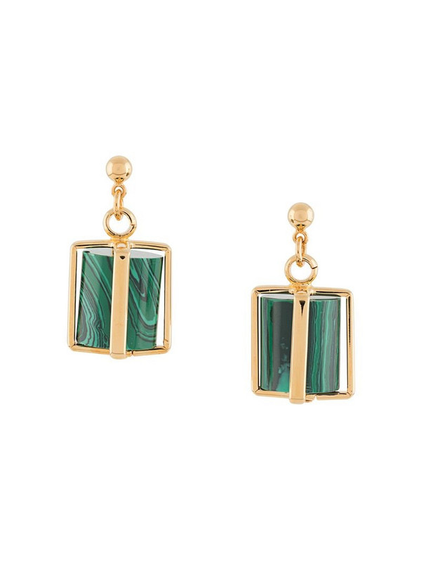 colville gold-plated Cage earrings in green