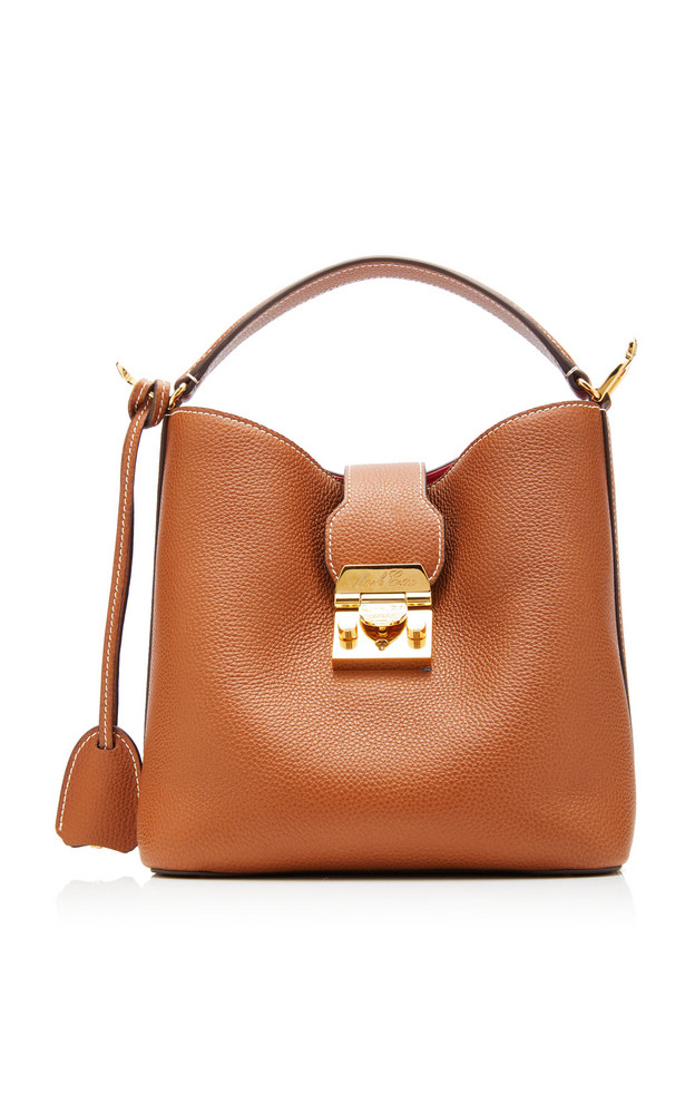 Mark Cross Murphy Small Textured-Leather Bucket Bag in brown