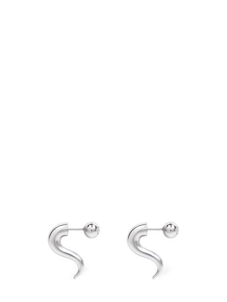 BALENCIAGA Force Horn Earrings in silver