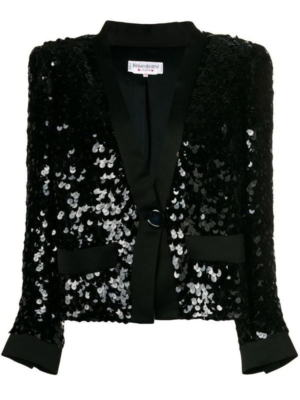 Yves Saint Laurent Pre-Owned sequinned jacket in black