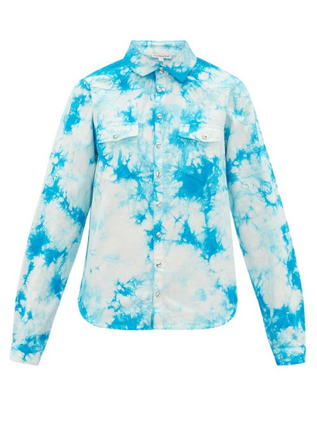 Arizona Love - Alba Tie-dye Cotton Shirt - Womens - Blue Print