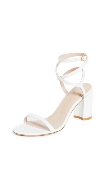 Stuart Weitzman Merinda Block Sandals in white