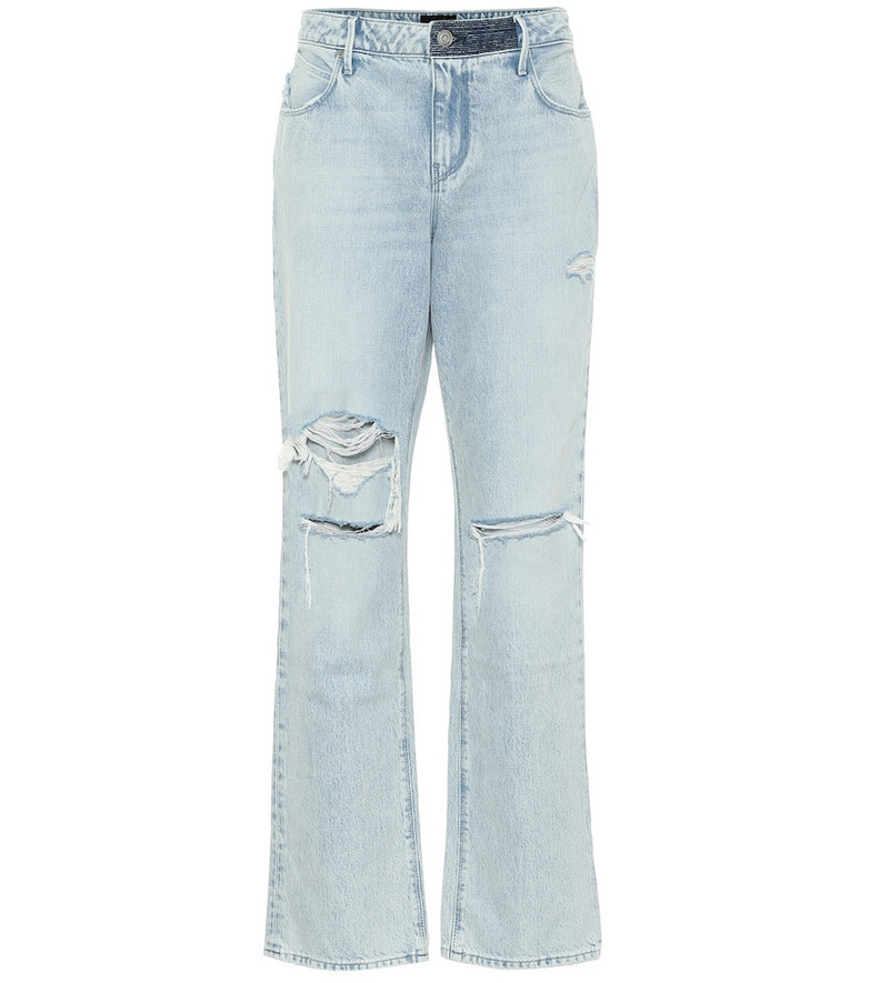 RtA Remi high-rise straight jeans in blue