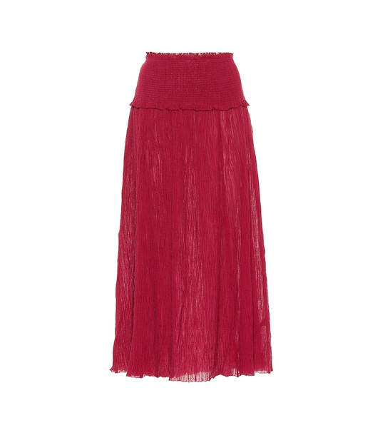 Zimmermann Suraya ramie and cotton skirt in red