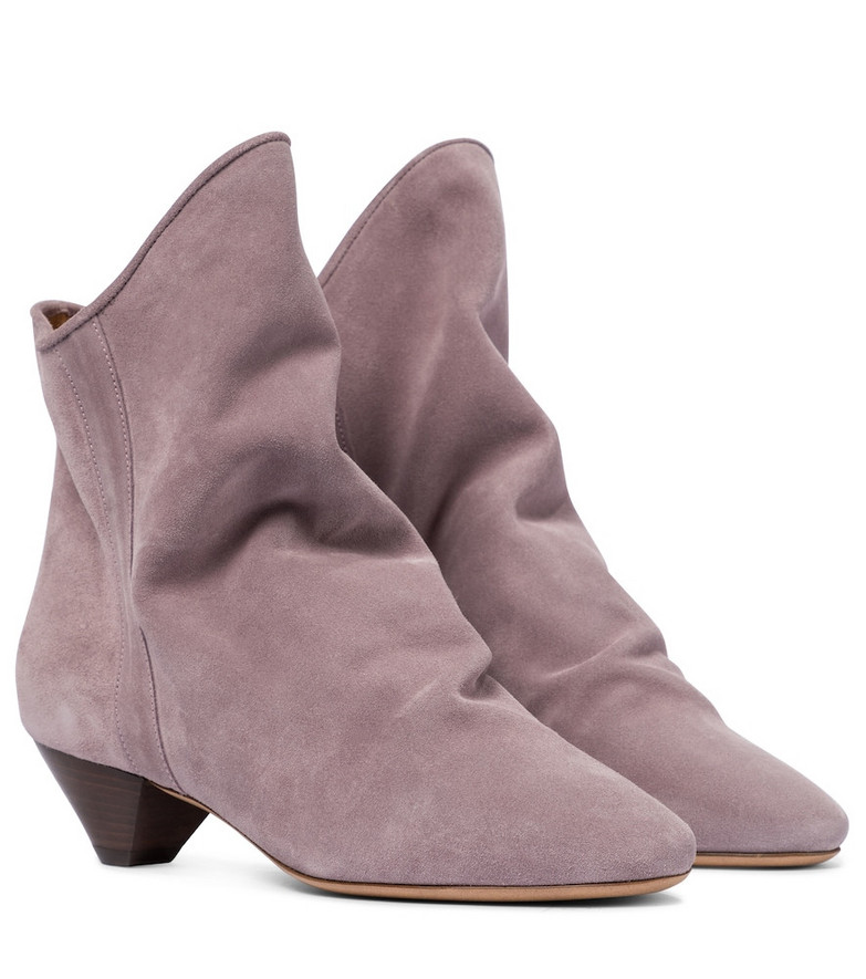 Isabel Marant Doey suede ankle boots in purple
