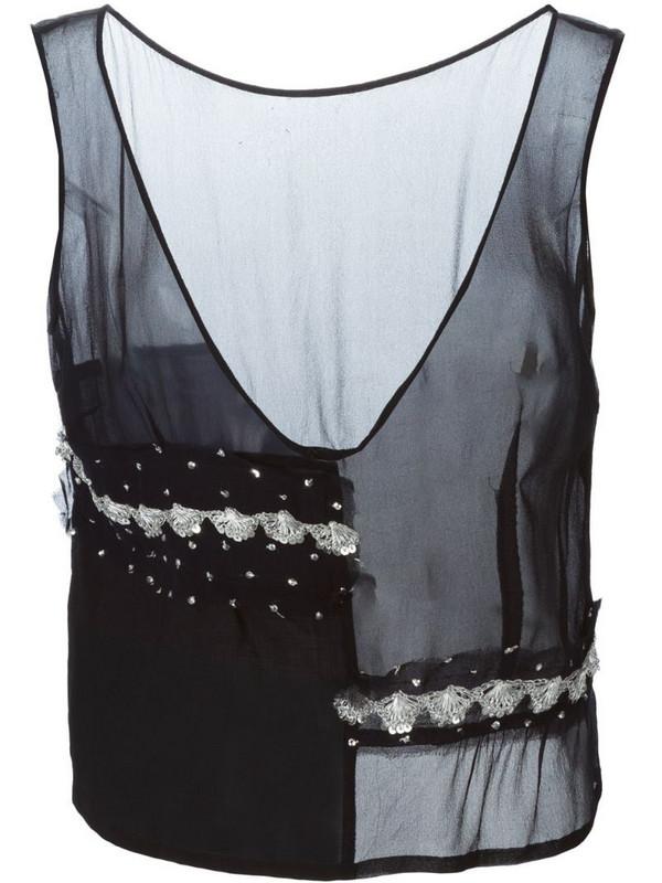 Comme Des Garçons Pre-Owned paneled top in black