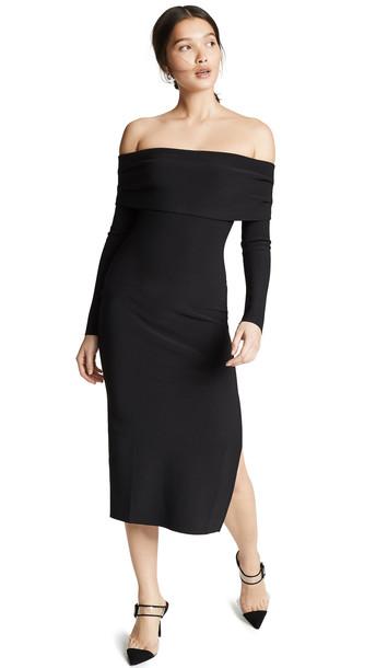 Bec & Bridge Elle Off Shoulder Dress in black