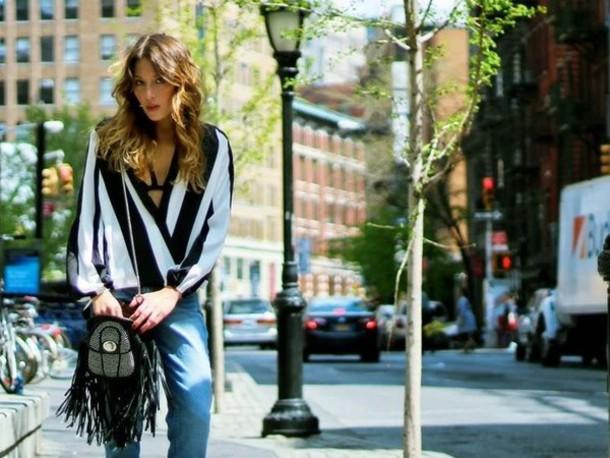 blouse striped top wrap blouse stiped striped blouse