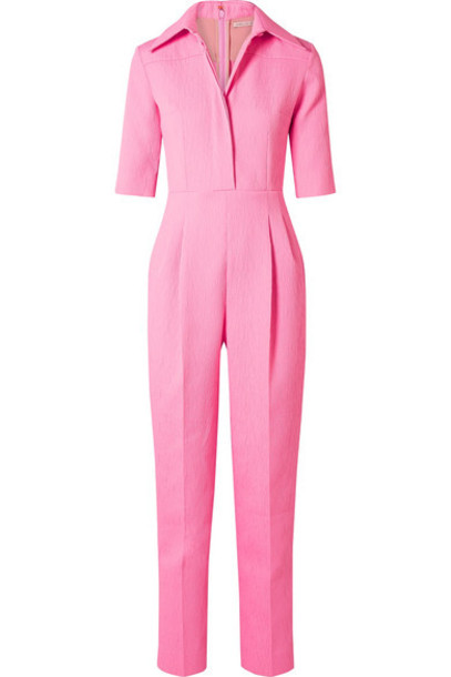 Emilia Wickstead - Brice Seersucker Jumpsuit - Pink