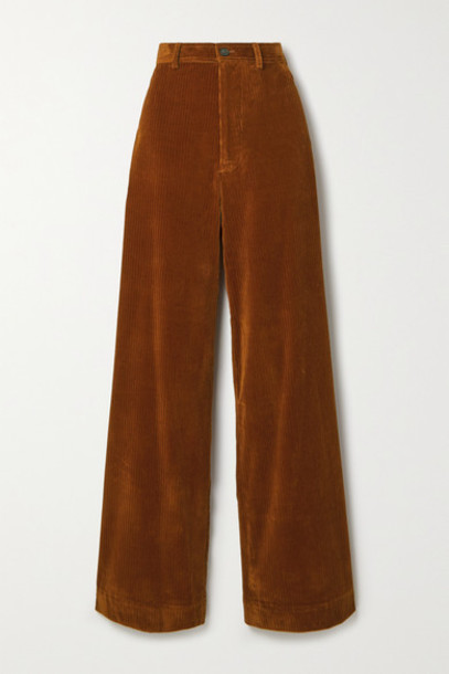 Vanessa Bruno - Polo Cotton-blend Corduroy Wide-leg Pants - Camel