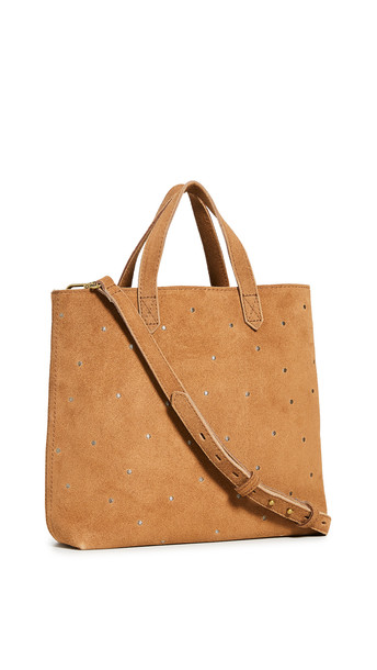 Madewell Small Inset Zip Transport Crossbody Bag in brown