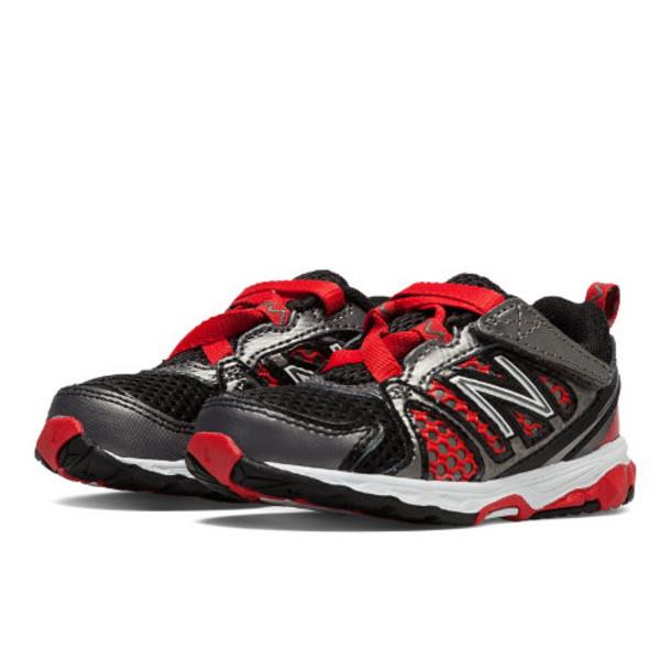 buy popular 4d693 8a435 New Balance 696 Kids' Running Shoes - Black, Red, Silver (KV696BRI)