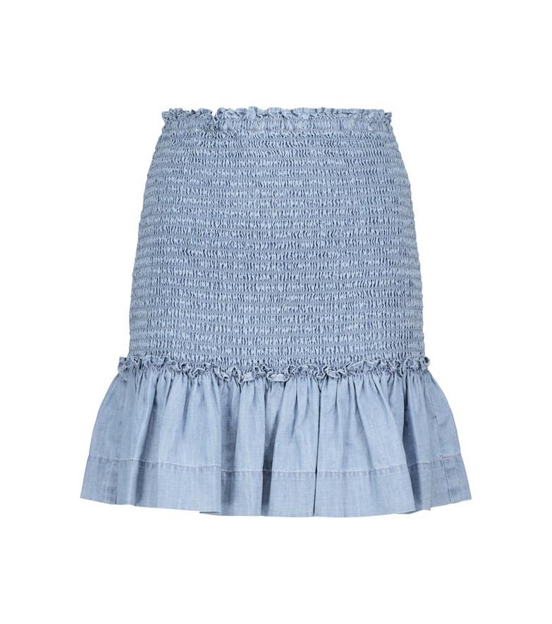 Veronica Beard Aloya chambray miniskirt in blue
