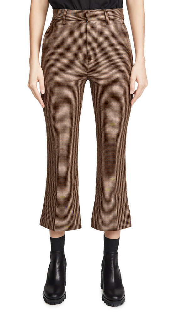 Edition10 Plaid Trousers in black / brown