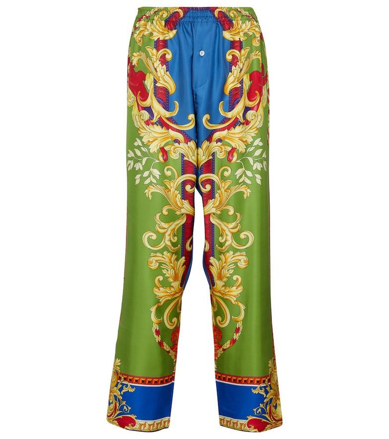 Versace Medusa Renaissance silk pajama pants