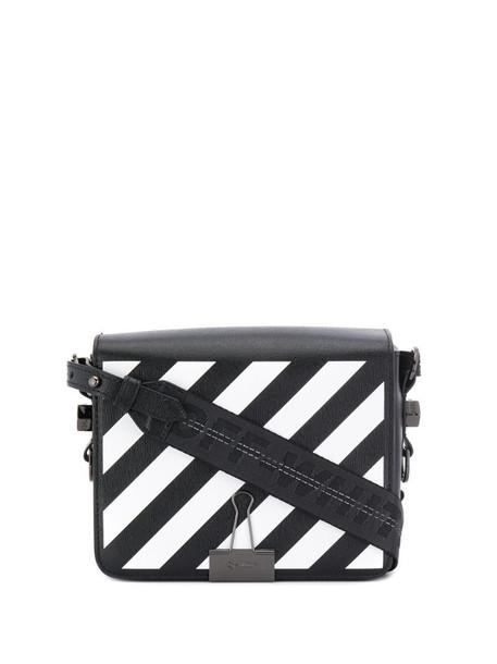 Off-White Diag flap bag in black