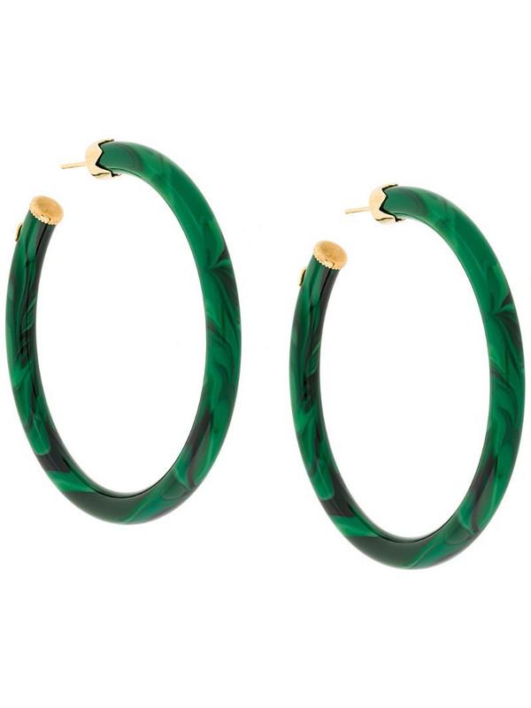Gas Bijoux CAFTAN hoop earrings in green