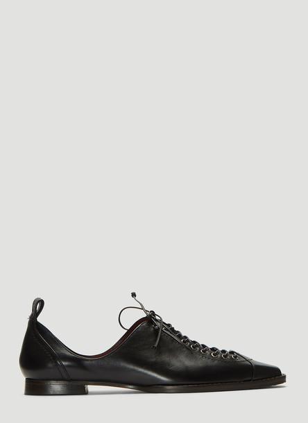 Sies Marjan Terra Grain Flat Shoes in Black size EU - 38