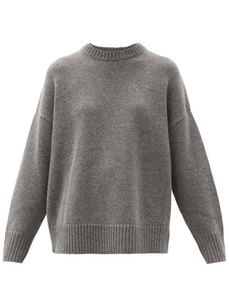 Co - Oversized Round-neck Wool-blend Sweater - Womens - Grey